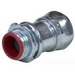 Topaz 652SI EMT Compression Connector With Insulated Throat; 3/4 Inch, Steel