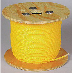 L.H. Dottie 3860 Pull Rope; 3/8 Inch x 600 ft, 2430 lb Breaking Strength, Polypropylene, Yellow