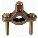L.H. Dottie DB25 Direct Burial Bare Grounding Clamp; 1/2 - 1 Inch Pipe, 4/6/8 Inch Rebar, Bronze Body and Screw