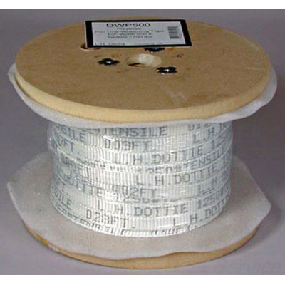 L.H. Dottie DWP1502 Pull Line/Measuring Tape; 3/4 Inch x 1500 ft, 2500 lb Breaking Strength, Polyester