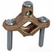 L.H. Dottie PL25 Direct Burial Bare Grounding Clamp; 1/2 - 1 Inch Pipe, Bronze Body, Brass Screw