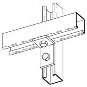 Cooper B-Line B101-GRN 90 Degree Corner Angle Bracket; Steel, (2) 9/16 Inch Hole Mounting