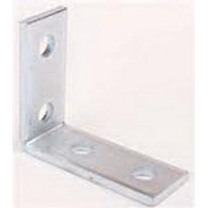 Cooper B-Line B104-GRN 90 Degree Corner Angle Bracket; Steel, (4) 9/16 Inch Hole Mounting