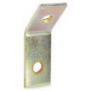 Cooper B-Line B154-ZN Open 45 Degree Angle Bracket; Steel, (2) 9/16 Inch Hole Mounting