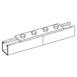 Cooper B-Line B341-GRN Flat Splice Plate; Steel, (4) 9/16 Inch Hole Mounting