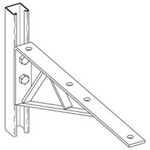 Cooper B-Line B292-ZN Channel Bracket; (4) Horizontal Hole and (2) Vertical Hole Mounting
