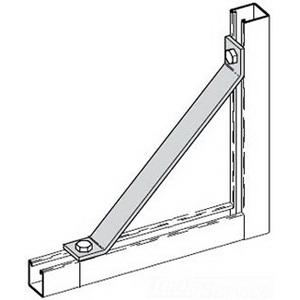 Cooper B-Line B261-16-ZN 45 Degree Angular Knee Brace; Steel, (2) 9/16 Inch Hole Mounting