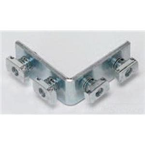 Cooper B-Line B115-ZN 90 Degree Corner Angle Bracket; Steel, (4) 9/16 Inch Hole Mounting