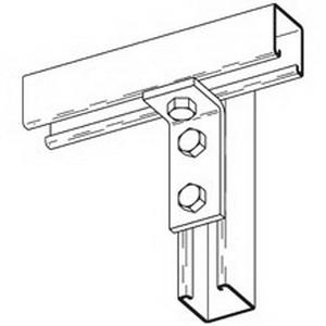 Cooper B-Line B103-GRN 90 Degree Corner Angle Bracket; Steel, (3) 9/16 Inch Hole Mounting