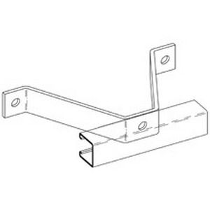 Cooper B-Line B383-ZN Wall Ladder Bracket; Steel, (3) 9/16 Inch Hole Mounting