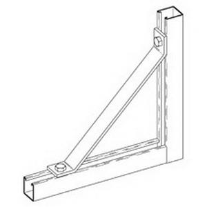 Cooper B-Line B261-12-ZN 45 Degree Angular Knee Brace; Steel, (2) 9/16 Inch Hole Mounting