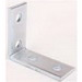 Cooper B-Line B104-ZN 90 Degree Corner Angle Bracket; Steel, (4) 9/16 Inch Hole Mounting