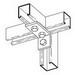 Cooper B-Line B102HDG 90 Degree Corner Angle Bracket; Steel, (3) Hole Mounting