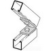 Cooper B-Line B155-ZN 45 Degree Closed Angle Bracket; Steel, (2) 9/16 Inch Hole Mounting