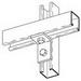 Cooper B-Line B101HDG 90 Degree Corner Angle Bracket; Steel, (2) 9/16 Inch Hole Mounting