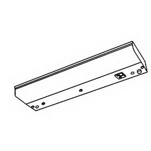 Philips Day-Brite CU25A-120-EB-LP 1-Light Valueline Series Under-Cabinet Fixture; 25 Watt