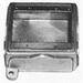 Appleton FDB-2GL Unilet® Deep 2-Gang Blank FD Cast Device Box; 2.690 Inch Depth, Malleable Iron, 45 Cubic-Inch
