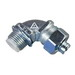 Appleton STB-9050 STB Series 90 Degree Liquidtight Connector With Insulated Throat; 1/2 Inch, Malleable Iron, Chromate, Tapered NPT