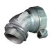 Appleton ST-45300L ST Series 45 Degree Liquidtight Connector With External Grounding Lug; 3 Inch, Malleable Iron, Chromate, Tapered NPT