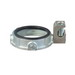 Appleton GIB-400LS-25AC Insulated Grounding Bushing With Lay-In-Lug; 4 Inch, Threaded x Set-Screw, Malleable Iron