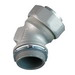 Appleton ST-45200 ST Series 45 Degree Liquidtight Connector; 2 Inch, Malleable Iron, Chromate, Epoxy Powder Coat/Electro-Plated Zinc, Tapered NPT