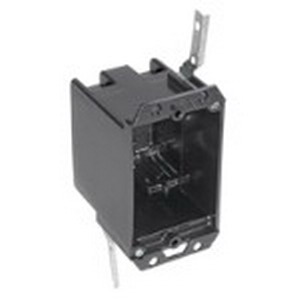Bowers 114-OW 1-Gang Outlet Box; 3 Inch Depth, Polycarbonate, 14 Cubic-Inch, Black