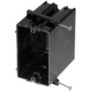 Bowers 122-N 1-Gang Switch Box; 3-3/16 Inch Depth, Polycarbonate, 22.5 Cubic-Inch, Black