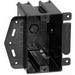 Bowers 118-LB 1-Gang Outlet Box; 2-7/8 Inch Depth, Polycarbonate, 18 Cubic-Inch, Black