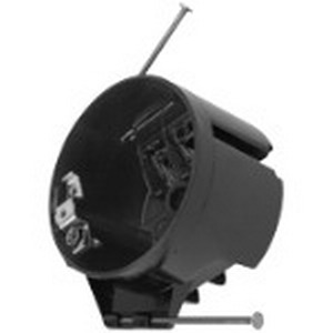Bowers 3R-16-NGP Round Ceiling Outlet Box; 2-1/4 Inch Depth, Polycarbonate, 16 Cubic-Inch, Black