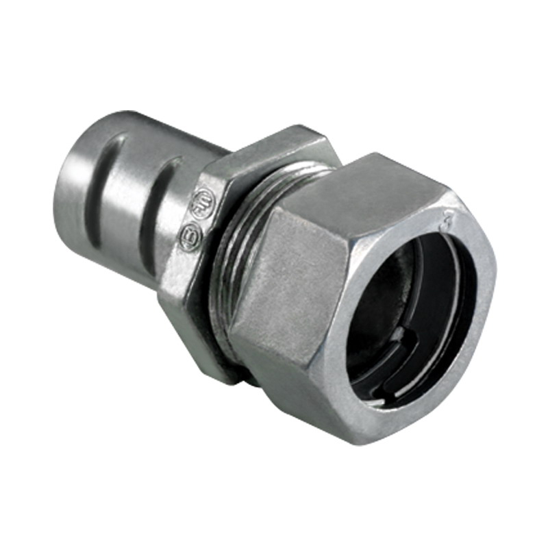 Bridgeport 581-DC Flexible Combination Coupling; 1/2 Inch, Die-Cast Zinc, Compression x Screw-In