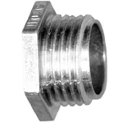 Bridgeport 1106-DC Conduit Chase Nipple; 1-1/2 Inch, MNPT, Die-Cast Zinc