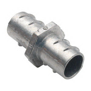 Bridgeport 531-DC Flexible Metal Conduit Coupling; 3/4 Inch, Screw-In, Zinc Die-Cast, Ball Burnished, Mirror Smooth
