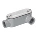 Bridgeport LL-41CG Type LL Conduit Body With Cover and Gasket; 1/2 Inch, Threaded, Aluminum