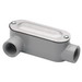 Bridgeport LR-41CG Type LR Conduit Body With Cover and Gasket; 1/2 Inch, Threaded, Aluminum
