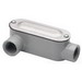 Bridgeport LR-43CG Type LR Conduit Body With Cover and Gasket; 1 Inch, Threaded, Aluminum