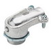 Bridgeport 806-I 90 Degree Flexible Metal Conduit Connector With Cover; 3/4 Inch, Malleable Iron, Electro-Plated Zinc