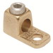 Hubbell Electrical / Burndy KA25 Straight Pad Terminal Connector Lug; 1/2 Inch Bolt Size, 4-1/0 AWG Stranded, 1 Hole Mount, Copper