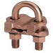 Hubbell Electrical / Burndy GAR6429 Bright Tipped Fence Post Grounding Connector; 3/8 Inch Tube, 5/8 - 3/4 Inch Rod, #5 - #6 Rebar, Copper Alloy, Silicon Bronze Hardware, Unplated