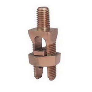 Hubbell Electrical / Burndy KC31 Servit Post™ Mechanical Grounding Connector; 1 AWG-350 KCMIL Stranded, 5/8-11 x 3/4 Inch, Leaded Bronze Alloy