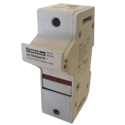 Ferraz Shawmut US3J1I Ultrasafe™ Modular Fuse Holder; 30 Amp, 600 Volt AC, DIN-Rail Mounting