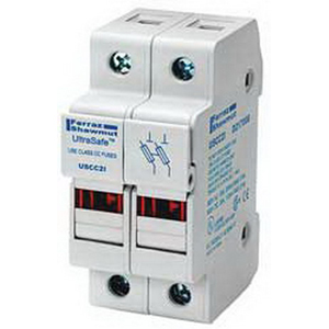 Ferraz Shawmut USCC2I Ultrasafe™ Modular Fuse Holder; 30 Amp, 600 Volt AC, DIN-Rail Mounting