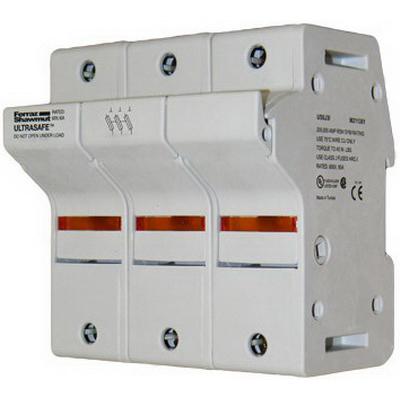 Ferraz Shawmut US6J3I Ultrasafe™ Modular Fuse Holder; 60 Amp, 600 Volt AC, DIN-Rail Mounting