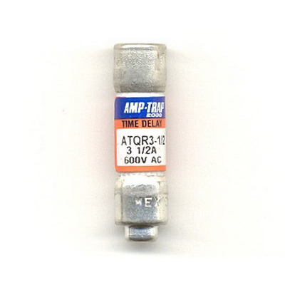 Ferraz Shawmut ATQR3-1/2 Amp-Trap 2000® Class CC Time-Delay Fuse; 3-1/2 Amp, 600 Volt AC/300 Volt DC