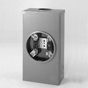 Cooper B-Line 204 Ring 3-Wire Single Meter Socket; 600 Volt, 200 Amp, 1-Phase, 4-Jaw, Surface Mount