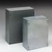 Cooper B-Line 12128SC Junction Box; 16 Gauge Steel, ANSI 61 Gray, Wall Mount, Screwed Cover
