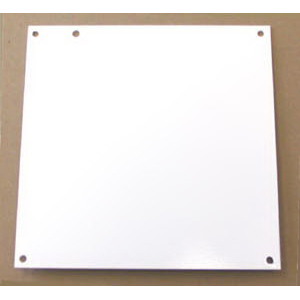 Cooper B-Line AW2420P NEMA Flanged Panel; 16 Gauge Steel, White, 0.560 Inch Dia Hole Mount, Fits 20 Inch Height x 24 Inch Width x 6 Inch Depth Wall Mount Enclosure