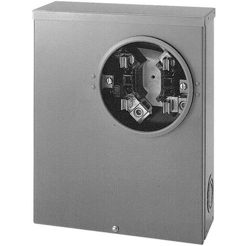 Cooper B-Line UG204 Ring 3-Wire Single Meter Socket; 600 Volt, 200 Amp, 1-Phase, 4-Jaw, Surface Mount