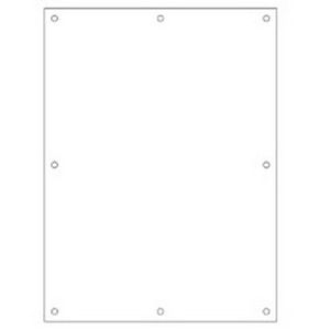 Cooper B-Line AW64P JIC Flat Panel; 14 Gauge Steel, White, 0.250 Inch Dia Hole Mount, Fits 6 Inch Height x 4 Inch Width Fiberglass Enclosure