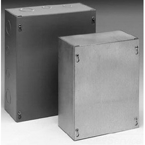 Cooper B-Line 1212SCF Cover; 16 Gauge Steel, ANSI 61 Gray, Flush/Screw Mount, Fits 12 x 12 Inch Enclosure