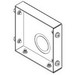 Cooper B-Line 66-HSE-NK Wireway End For Lay-In Wireway; 6 Inch x 6 Inch, Steel, ANSI 61 Gray